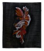 Siamese Fighting Fish Fleece Blanket