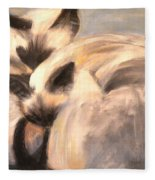 Siamese Lovers Fleece Blanket