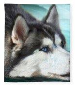 Siberian Husky Fleece Blanket