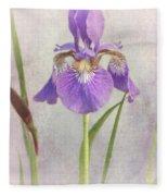 Siberian Iris Fleece Blanket
