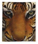 Siberian Tiger I Fleece Blanket