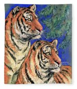 Siberian Tiger Fleece Blanket