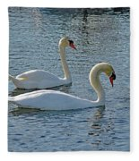 Side By Side For Life  Fleece Blanket