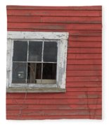 Side Of An Old Red Barn Quechee, Vermont Fleece Blanket