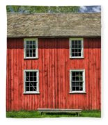 Side Of Barn And Windows At Old World Wisconsin Fleece Blanket