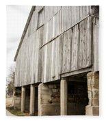 Side Of The Amana Farmer's Market Barn Amana Ia Fleece Blanket