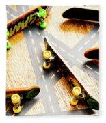 Side Streets Of Skate Fleece Blanket