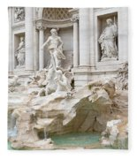 Side View Of The Trevi Fountain In Rome Fleece Blanket