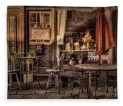 Sidewalk Cafe Fleece Blanket