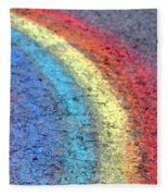 Sidewalk Rainbow  Fleece Blanket
