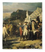 Siege Of Yorktown Fleece Blanket