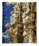 Siena Duomo Statues 2 Fleece Blanket