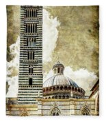 Siena Duomo Tower And Cupola Fleece Blanket