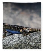 Sierra Fence Lizard 2 - Sierra Fleece Blanket