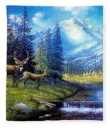 Sierra Mountain Meadow   Fleece Blanket