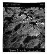 Sierra Nevada's Planer Earth Bw Fleece Blanket