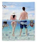 Siesta Beach Resort And Spa Mural Fleece Blanket