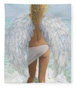 Siesta Key Beach Angel Fleece Blanket