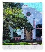 Siesta Key Beach Cottage Fleece Blanket