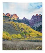 Sievers Peak And Golden Aspens Fleece Blanket