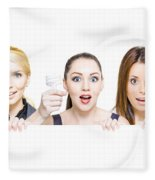 Sign Of Business Innovation And Business Success Fleece Blanket