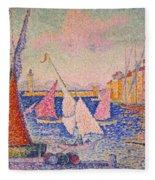 Signac: St. Tropez Harbor Fleece Blanket