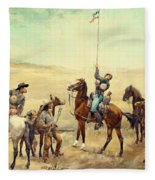Signaling The Main Command 1885 Fleece Blanket