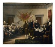 Signing The Declaration Of Independence Fleece Blanket