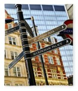 Signpost In London Fleece Blanket