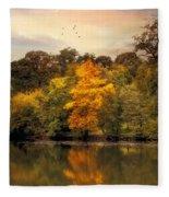 Signs Of Autumn  Fleece Blanket