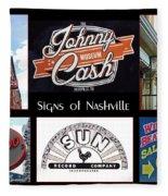 Signs Of Nashville Fleece Blanket