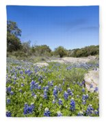 Signs Of Spring In Texas Fleece Blanket