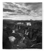 Sigoldufoss Waterfalls Iceland 1291 Fleece Blanket