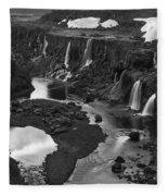 Sigoldufoss Waterfalls Iceland 1294 Fleece Blanket