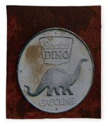 Siinclair Dino Gasoline Sign Fleece Blanket