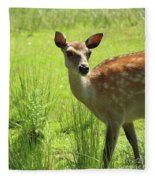 Sika Deer Omagh Fleece Blanket