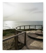 Silence And Solitude - A Special Sunset Throne High Above The Ocean Fleece Blanket