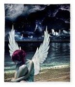 Silence Of An Angel Fleece Blanket