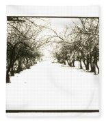 Silenced By The Snow Fleece Blanket