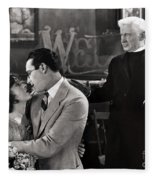 Silent Film Still: Wedding Fleece Blanket