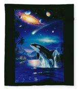Silent Journey Christian Riese Lassen Fleece Blanket
