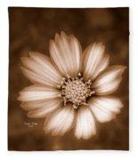 Silent Petals Fleece Blanket