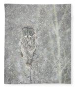 Silent Snowfall Portrait II Fleece Blanket