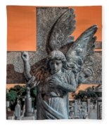 Silent Vigil Fleece Blanket