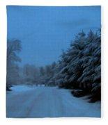 Silent Winter Night  Fleece Blanket