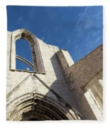 Silent Witness - Carmo Convent Roofless Ruin In Lisbon Portugal Fleece Blanket