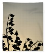 Silhouette Of Lilies Of The Valley 2 Fleece Blanket