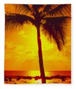 Silhouetted Palm Fleece Blanket