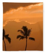Silhouetted Palms Fleece Blanket
