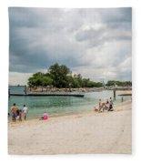 Siloso Beach Fleece Blanket